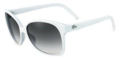 Lacoste L614S 105 Womens White Sunglasses Authentic New 614 105 (Lacoste Sunglasses Womens)
