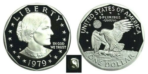 1979, 1980, 1981 S Susan B. Anthony Dollar PROOF Set  INCLUDES 2 TYPE 1 PROOFS
