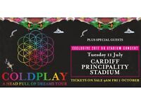 4x Coldplay Tickets Cardiff 11th July