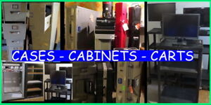 CASES, CABINETS, CARTS (for office, film production,av staging)