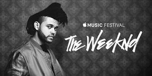 THE WEEKND À MONTREAL ROUGE MARDI 30 MAI 2017(2x124L)