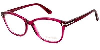 TOM FORD FT5404 075 Shiny Fuchsia Red Rose 53MM Women Eyeglasses RXABLE PAL