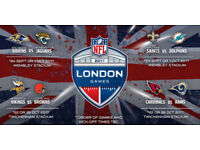 4 tickets - NFL Tickets Minnesota Vikings vs Cleveland Browns at Twickenham London