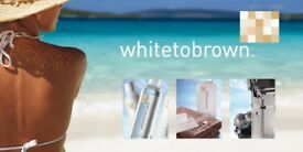 Spray tanning white to brown light medium and dark beauty salon sunbeds