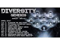 DIVERSITY GENESIS TOUR 2017 TICKETS x 2