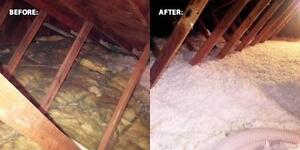 UPGRADED ATTIC INSULATION-ECO ENERGY REBATES NOW ON