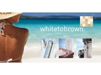 White to Brown mobile Spray Tanning