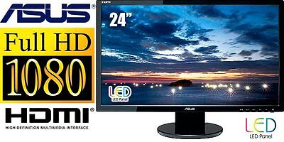 "ASUS VE247H 24""  LED LCD Monitor, built-in Speakers - HDMI DVI VGA Inputs on Rummage"