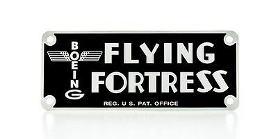 Boeing B-17 Flying Fortress Instrument Panel Placard WWII Data Plate PLA-0106