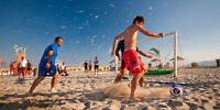 Play beach soccer in Montreal : $ 49 + tax (10 weeks)!