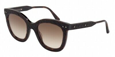 Authentic BOTTEGA VENETA BV0035S 004 Dark Havana/Brown Lens 50mm Sunglasses (Bottega Sunglasses)