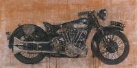 Moschetta: Brough Superior Immagine Telaio Incastro 50x100 Tela Moto Antica -  - ebay.it