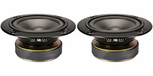 "NEW (2) 5"" Midrange Sealed Back Speakers Driver.4 ohm Audio Voice Vocal Pair.5in"