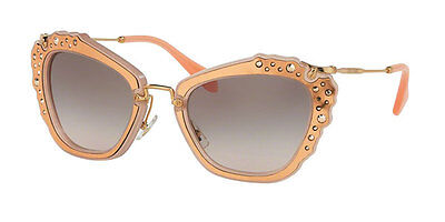 Miu Miu  MU04QS TV1-4K0 Womens Matte Pink Square Sunglasses