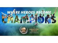 ICC Champions Trophy 2017 Semi-Final 1 (A1 V B2) GOLD x 3 - Wed 14 June, Cardiff Wales Stadium