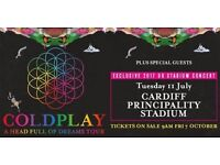 Coldplay tickets - Cardiff