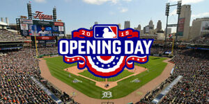 DETROIT TIGERS GREAT SEATS - OPENING DAY TICKETS