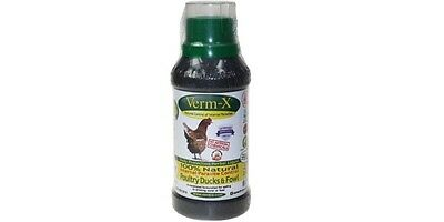 Verm-X Herbal Poultry Liquid - Natural Parasite Control 250ml