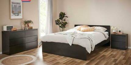 Bedroom Suite with Double Bed, Bedside Tables and Dresser
