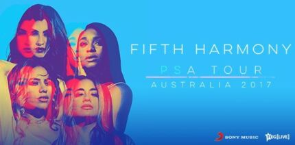 2 Tickets FIFTH HARMONY - PERTH ARENA 24 OCTOBER 2017 RSVD SEATING