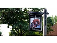 Full & Part-time Bar and Waiting Staff at The Mill House in North Warnborough