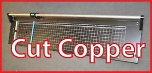 "Metal Strong 24"" Manual Rotary Paper Cutter Trimmer,Thin Copper"