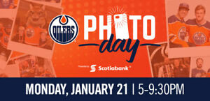 3 Tickets to Oilers Photo Session