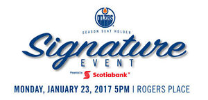 THE OILERS SEASON SEAT HOLDER SIGNATURE EVENT - TONIGHT