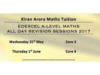 Maths Edexcel A-Level Revision Days Core 3 & Core 4. Qualified Teacher & Tutor