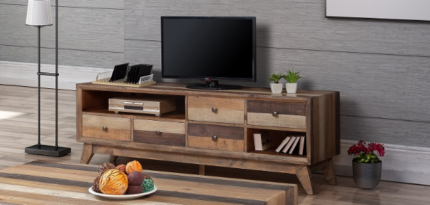 TV Unit – New – Mixed Timber Colour