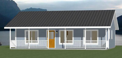 36X24 House    2 Bedroom 2 Bath    864 Sq Ft    Pdf Floor Plan    Model 3