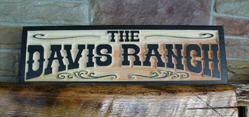 Western Home Decor Rustic Old West Style Signs Personalized Custom Carved Wood