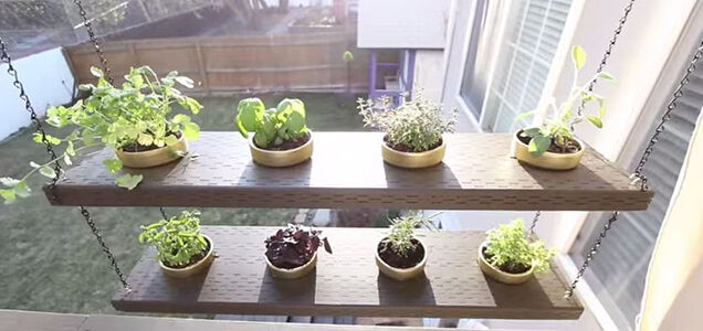 Captivating Simple DIY Hanging Herb Garden For Outdoor Spaces
