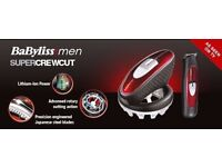 BaByliss Super Crew Cut hair clipper £30 NEW BOXED