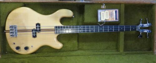 VINTAGE KRAMER DMZ 4001 ALUMINUM BASS w ORIGINAL CASE & PICKUP & UPGRADE PICKUP