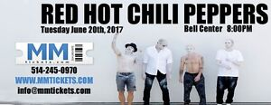 RED HOT CHILI PEPPERS @ BELL CENTER - JUNE 20 - REDS & FLOORS!!