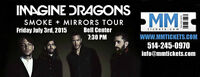 TONIGHT: IMAGINE DRAGONS @ BELL CENTER - REDS BELOW COST! 7:30PM