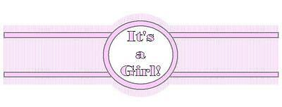 Its a Girl Cigar Candy Favor Wrap Label New Born Baby Birth Shower Set of