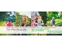 Photographer | Mini Portrait Session Days | £35 ONLY! | Wellingborough (22/10) & Northampton (23/10)