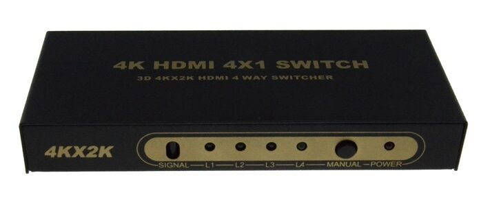 HDMI Switch 4x1 V1.4 Support Full 3D 4Kx2K per televisione HDTV con mando4K404