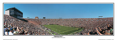 NCAA Notre Dame Fighting Irish Football South Bend Indiana Panoramic Poster (Notre Dame Football South Bend)