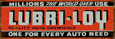 Lubri-Loy Gas And Motor Oil Sign