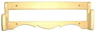 Pine Wooden Single Wall Gun Rack Rifle Shotgun Display - 2