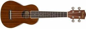 Seaside Soprano Uke, Natural Fender Ukulele