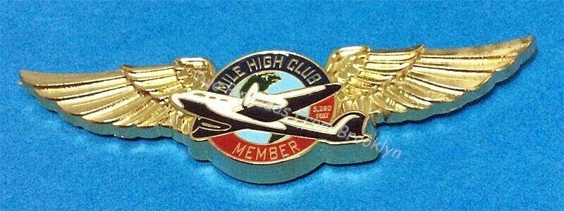 "MILE HIGH CLUB ""OFFICIAL"" MEMBER WINGS PIN"