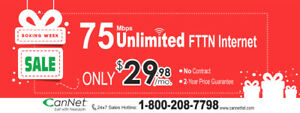 CanNet 75M Unlimited Cable Internet for $29.98/m