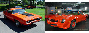 WANTED 1971 plymouth roadrunner and 1980 - 81 camaro Z28 ORANGE