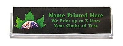 Earth Leaf Custom Name Tag Badge Id Pin Magnet For Environmentalists Naturalists