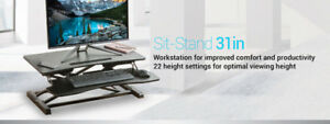 Sit Standing Desk Height Adjustable Ergo Riser ADR PrimeCables