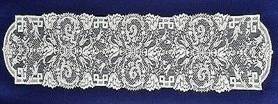 Lace Table Runner White Empress 14.5